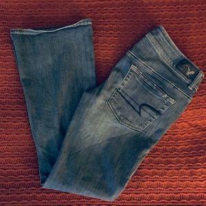 American Eagle Kick Boot Stretch Jeans SZ 8 Short